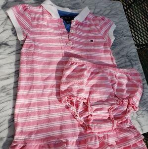 Tommy Hilfiger girls dress 18 24 months R15